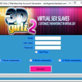 3D Girlz 2 Membership Account Generator