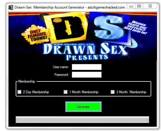 Drawn Sex Membership Account Generator