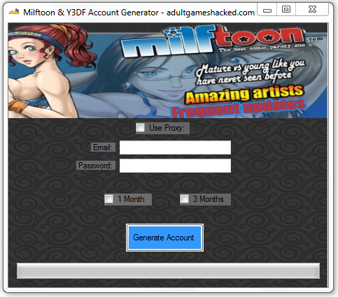 Milftoon And Y3DF Account Generator