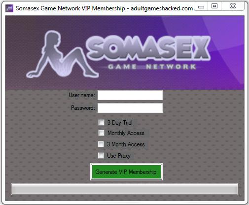 Somasex Game Network VIP Membership Generator