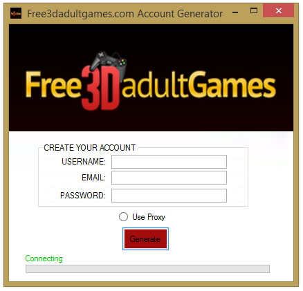 Free3dadultgames  Account Generator