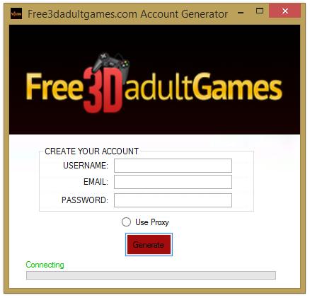 Free3dadultgames  Account Generator